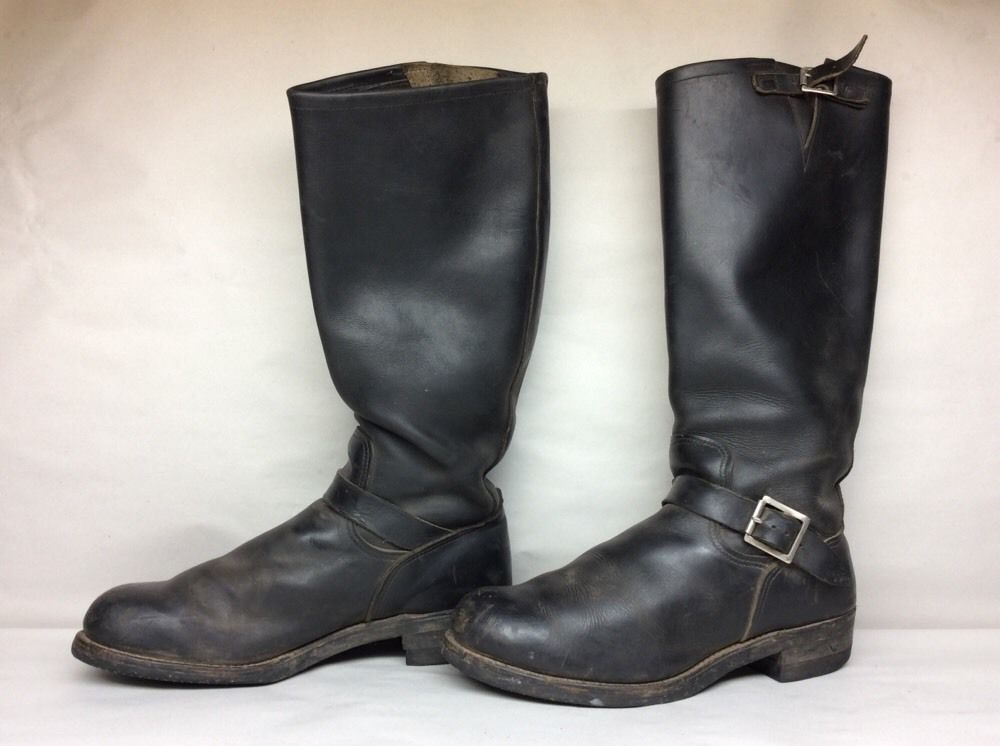 8bb4bae36 1 MENS NASTY FEET ENGINEER MOTORCYCLE LEATHER BLACK BOOTS SIZE 11.5 ...