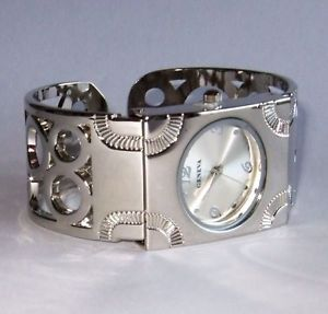 "New ""Circles Design"" Geneva Silver Bangle Cuff Watch | eBay"
