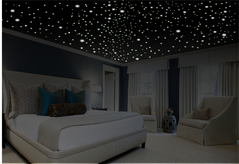 Romantic Bedroom Decor, Star Wall Decal, Glow In The Dark