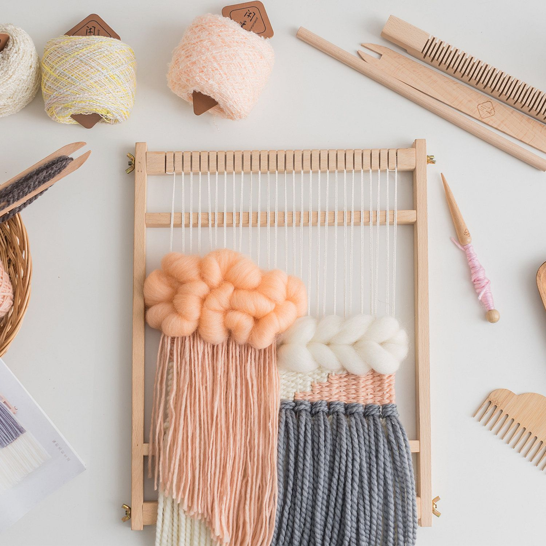 FunPa Mini Loom DIY Wooden Multipurpose Weaving Loom Tapestry Loom Weaving Craft