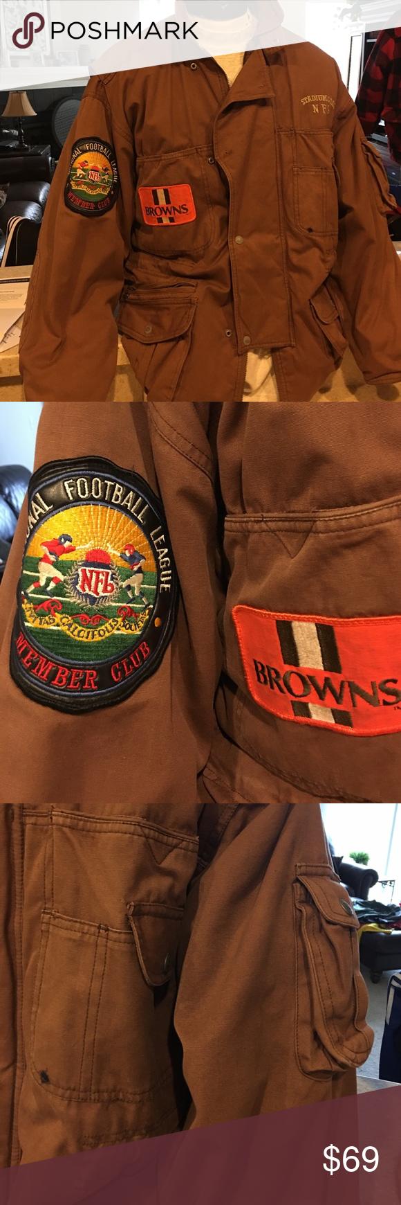 competitive price 52aa1 ba547 🏆HPCleveland Browns vintage stadium jacket medium Vintage ...