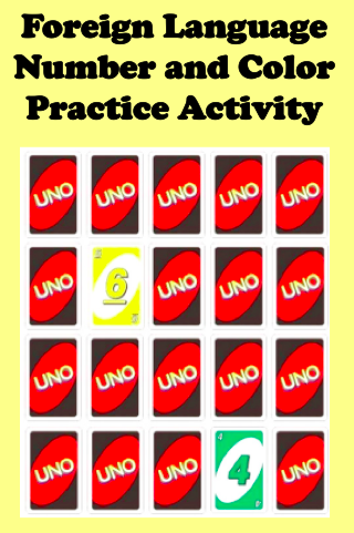 Foreign Language Number and Color Practice Activity | Language ...