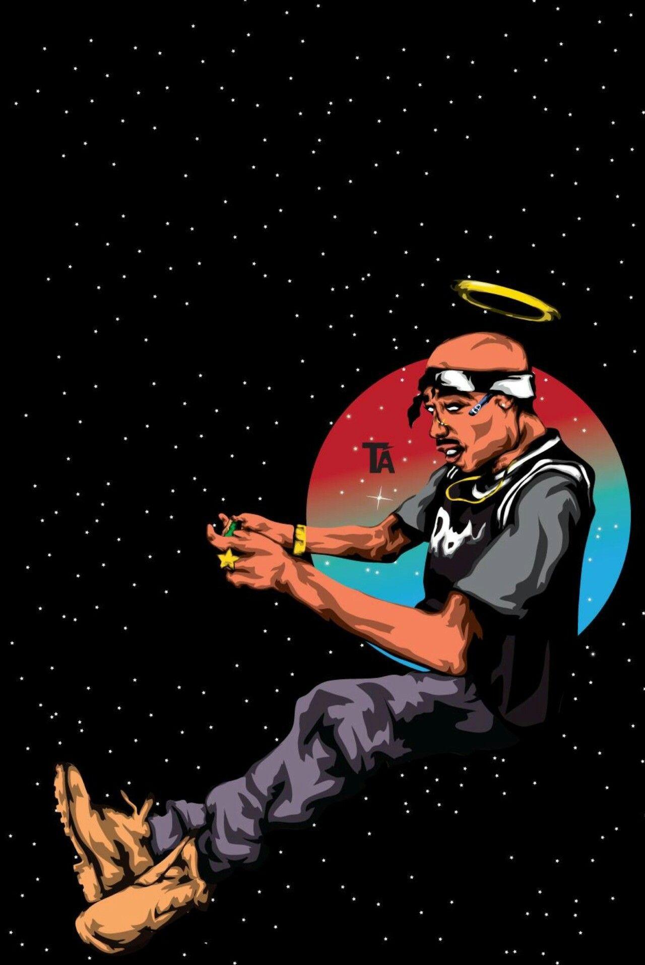 Pin by Theodora Major on Tupac Shakur Hip hop art, Tupac