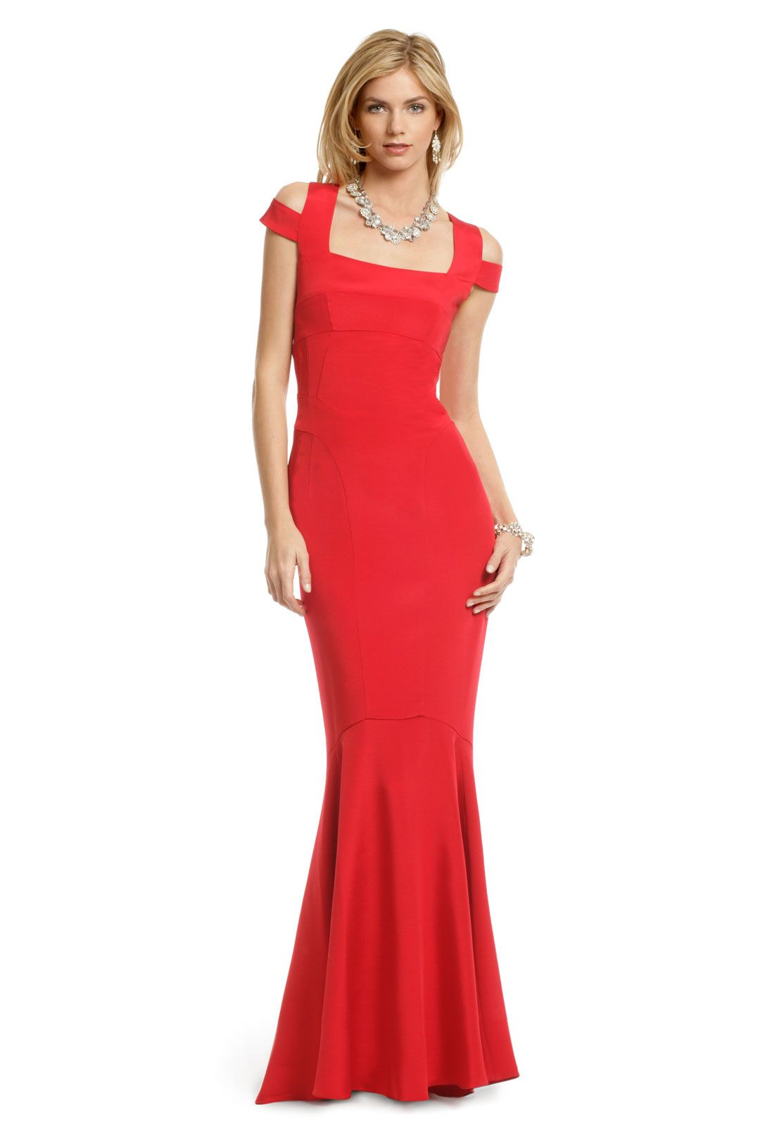 Crimson Cutout Gown Pw Dresses Gowns Prom Dresses