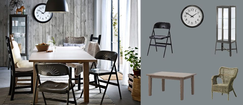 STORNÄS Grey-brown Extendable Table Seats 4-6 With Chairs