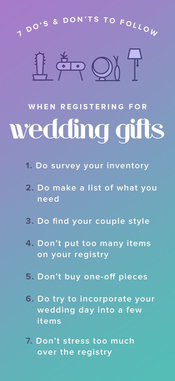 Before You Pull Out The Scanner And Start Your Wedding Registry Keep These Tips In Mind
