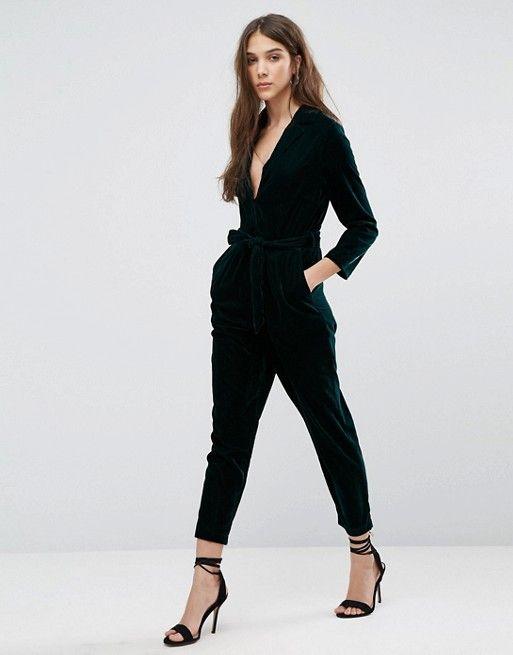 1222e1f7d48 New Look Pajama Style Velvet Jumpsuit