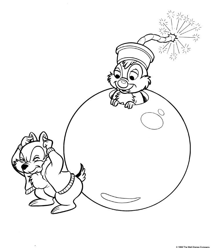 chip-and-dale-coloring-19.jpg | colorear | Pinterest | Dibujos ...