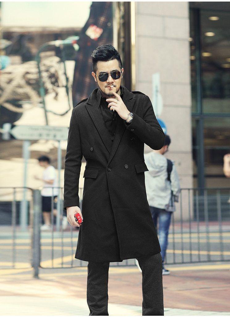 382763e03ae9 Men s Autumn Winter European Style Woolen Slim Long Trench Coat – zorket