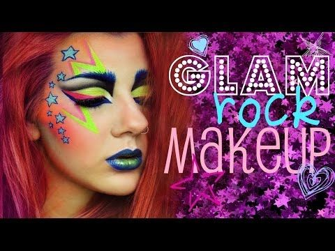 Glam Rock Entry To Make Up For Ever S Makeup Addict Contest Rock Makeup Glam Rock Makeup Makeup