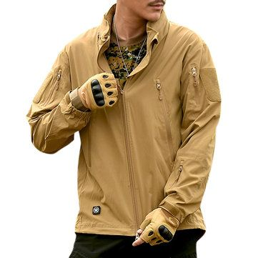 Outdoor Breathable Water Repellent Windproof Hooded Jackets for Men