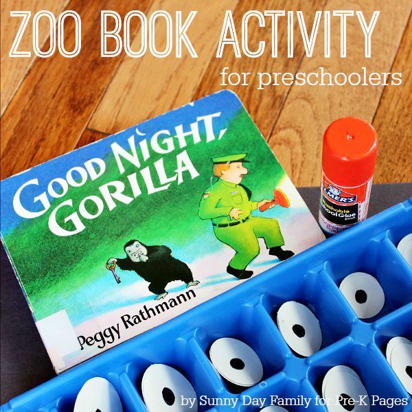 Zoo Book Activity Matching Eyes Pre School Zoo Book