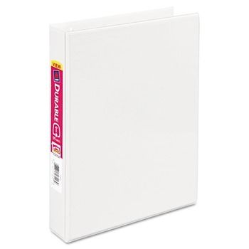 Mini Size Durable View Binder With Round Rings 3 Rings 1 Capacity 8 5 X 5 5 White Durable Durable Vinyl Round Rings