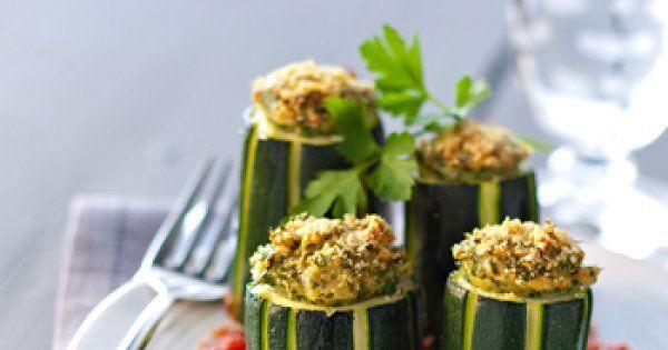 Courgettes farcies au parmesan et persil - Cuisine et Vins de France
