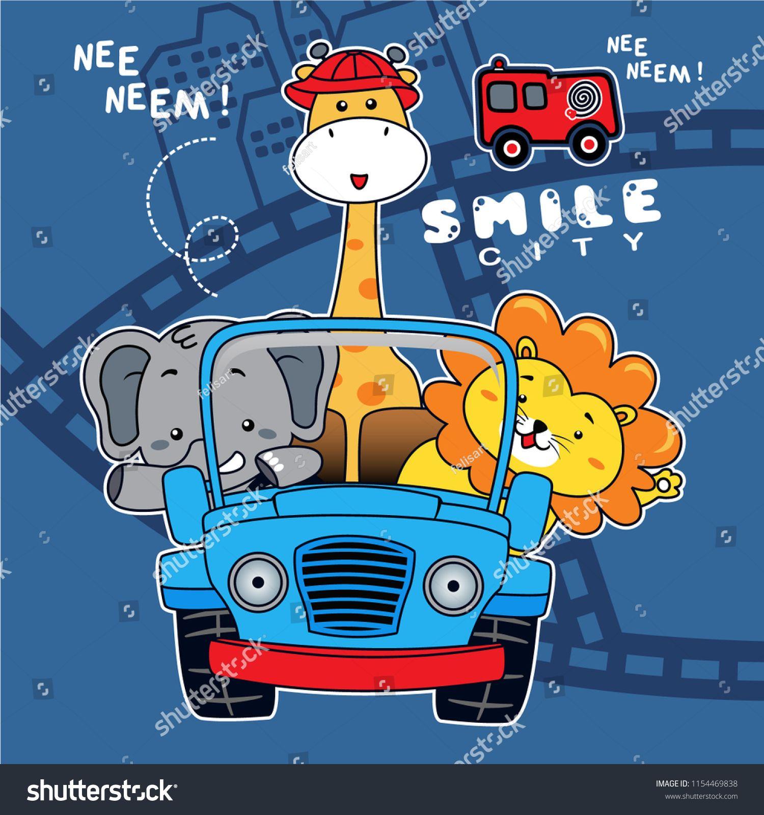 with friends riding a car,vector car illustrationriding