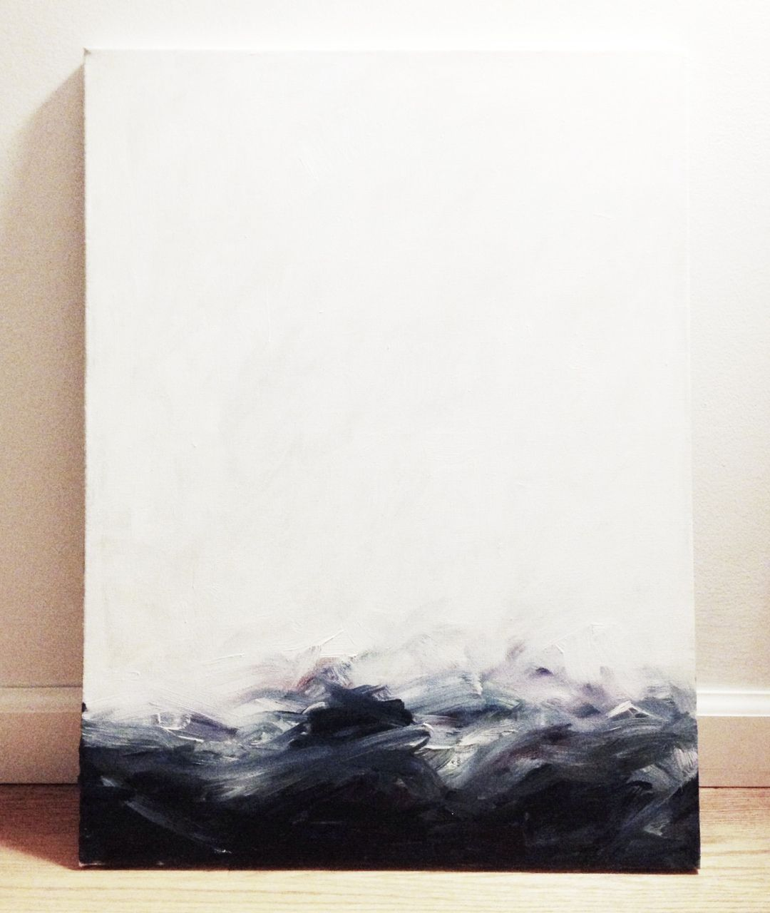 Womanbythesea Ocean Study No 1 In Progress Art Abstract Abstract Painting