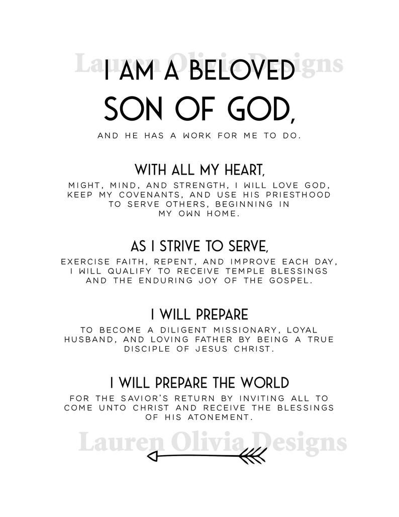 New Young Men Theme Aaronic Priesthood Theme Etsy Priesthood Lds Church Son Of God