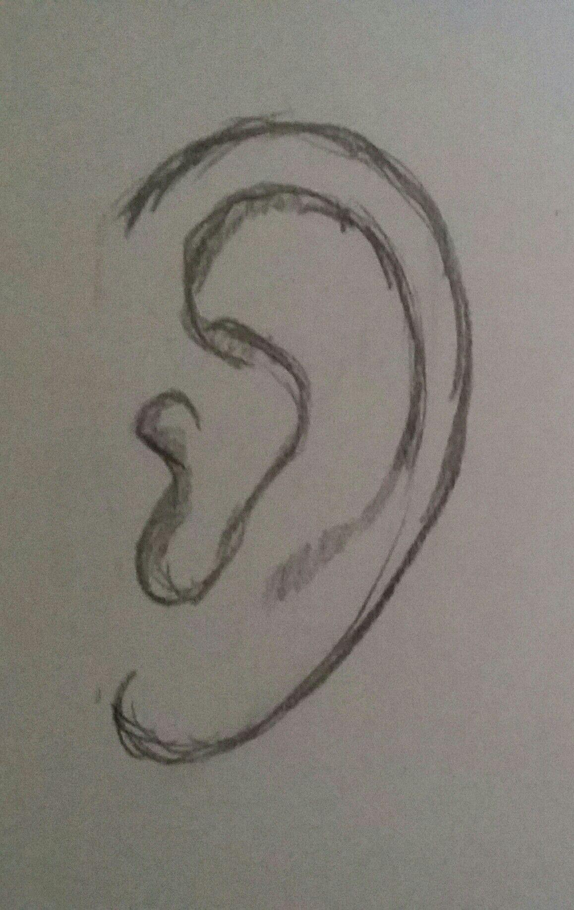 Easy Ear Pencil Drawing In 2020 Pencil Drawings Easy Pencil Art Drawings Art Drawings Sketches Simple