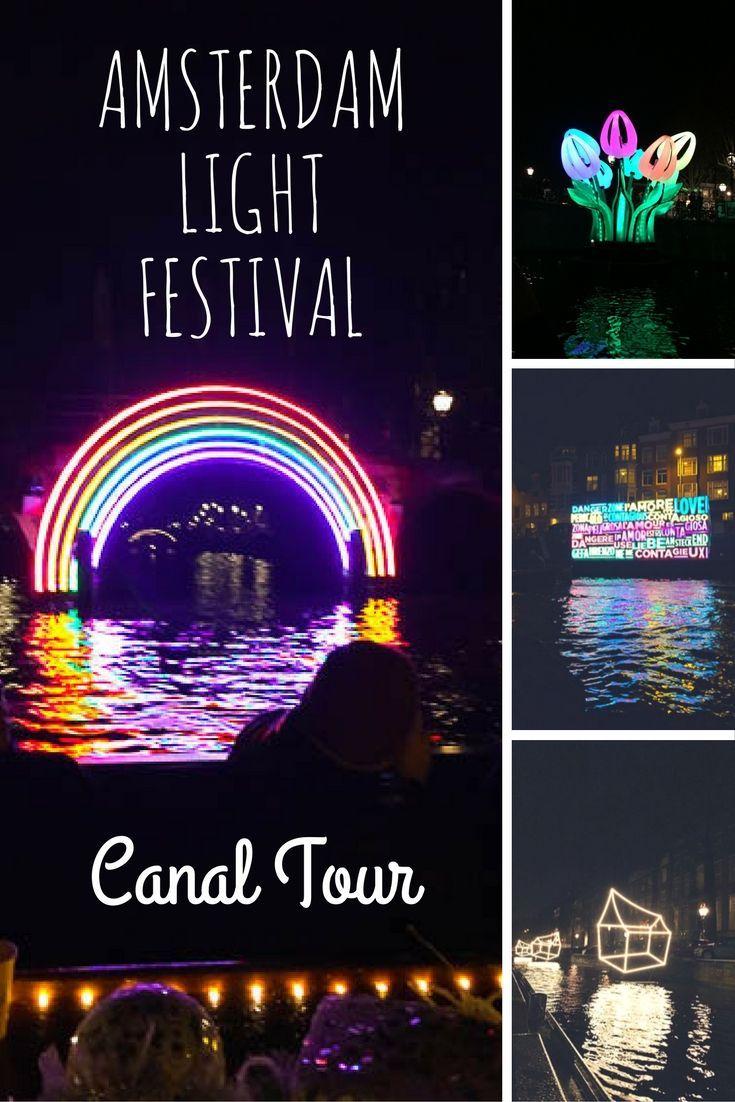 Amsterdam Light Festival Canal Boat Tour Trip Netherlands Travel Amsterdam Winter