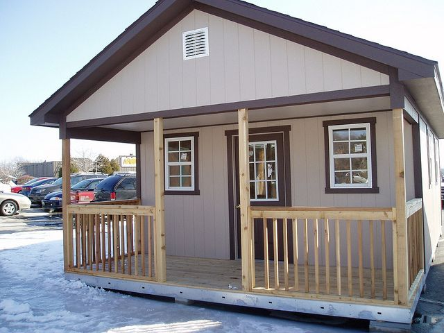 16x24 Cabin By Tuff Shed Storage Buildings Garages Via Flickr House Siding Shed To Tiny House Metal Building Homes Cost