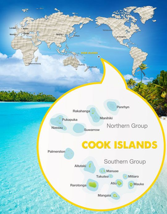 Cook Islands Map Discover Your Path to Paradise Holiday