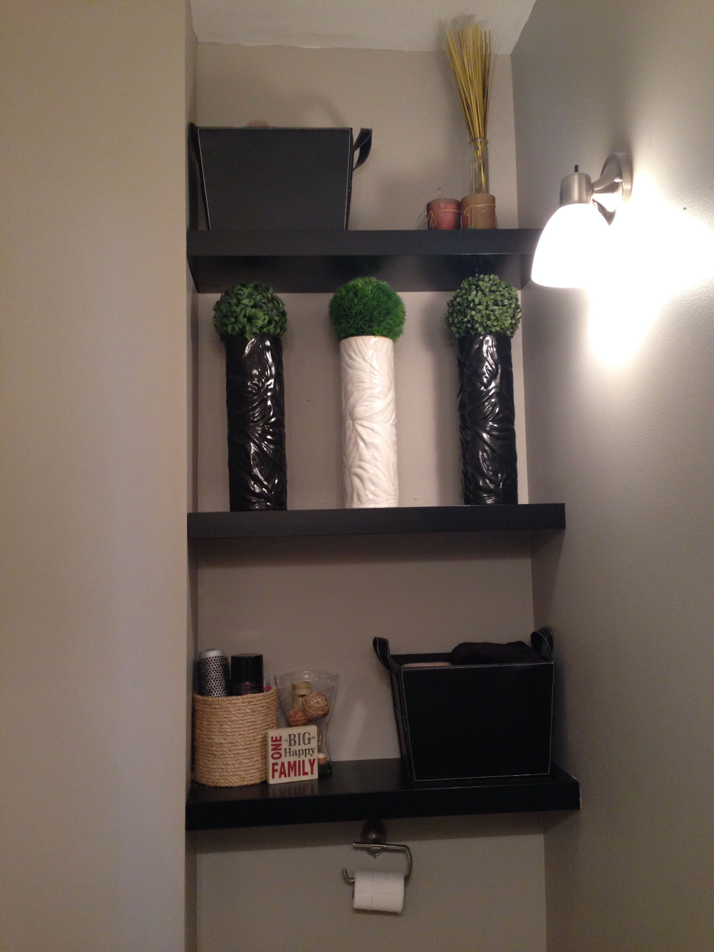 Have A Strange Nook In A Room Add Ikea Floating Shelves And Customize The Space Floatingshelvesideasrustic Floatings Ikea Floating Shelves Floating Shelves