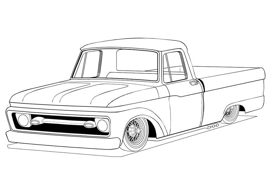 ford truck coloring pages then block coloring the main shade of Old Ford Econoline Vans ford truck coloring pages then block coloring the main shade of the paint and leaving everything