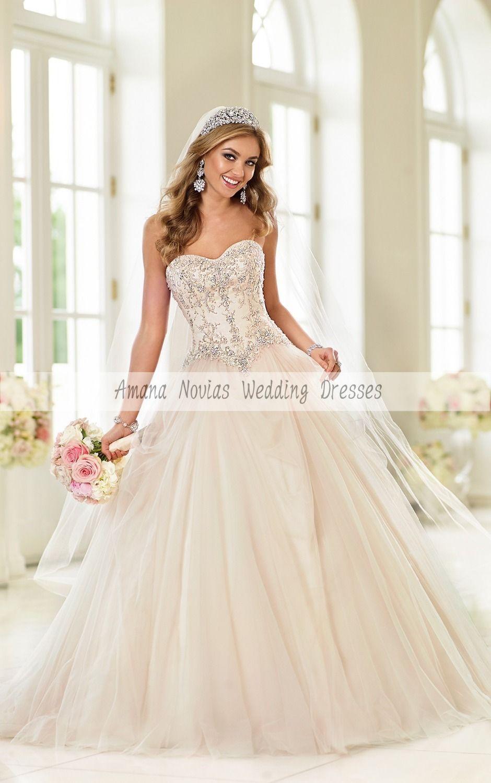 Wedding dresses ball gown sweetheart   vestido de noiva Sweetheart Neckline Embroidery Beadnig Lace Up