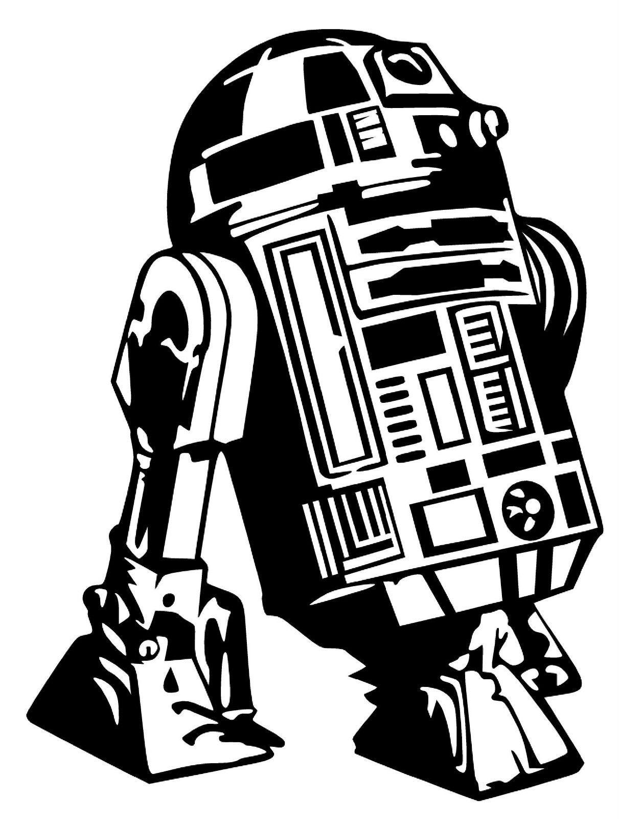 4 44 R2d2 Star Wars Empire The Force Awakens Vinyl Decal Sticker Car Bumper Window Ebay Home G Star Wars Stencil Star Wars Silhouette Star Wars Drawings [ 1600 x 1211 Pixel ]