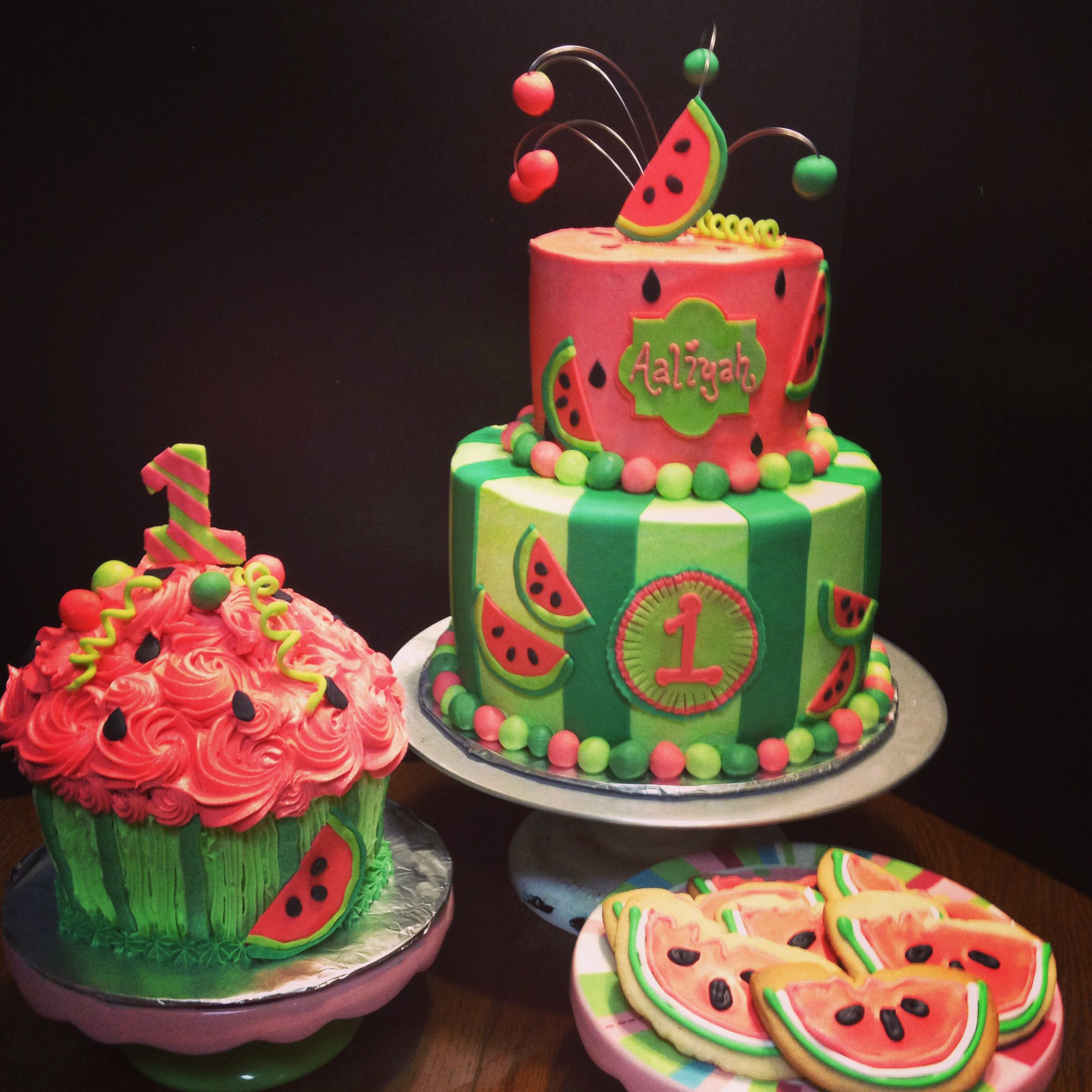 Incredible Watermelon Theme Party Www Ohdarlingcupcakery Com Watermelon Funny Birthday Cards Online Inifofree Goldxyz