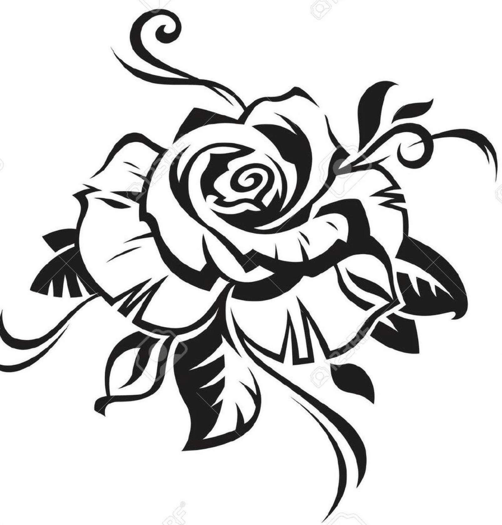 Картинки розы черно белые тату, логотипами самсунг
