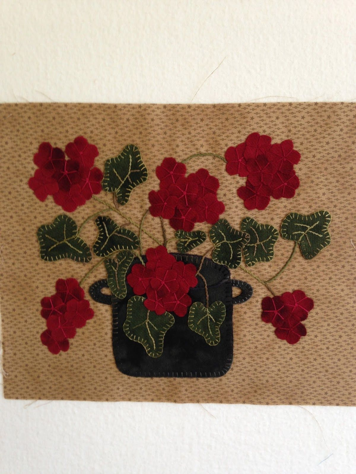 Red Geranium simple embroidery - Google Search