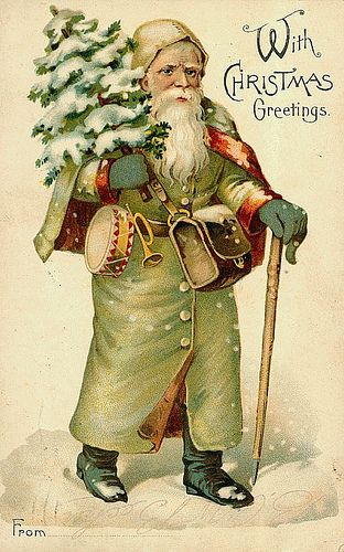 https://flic.kr/p/7jofnd | Vintage Christmas/Santa Claus Postcard | Free to use in your Art, not for Sale on a Collage Sheet or a CD