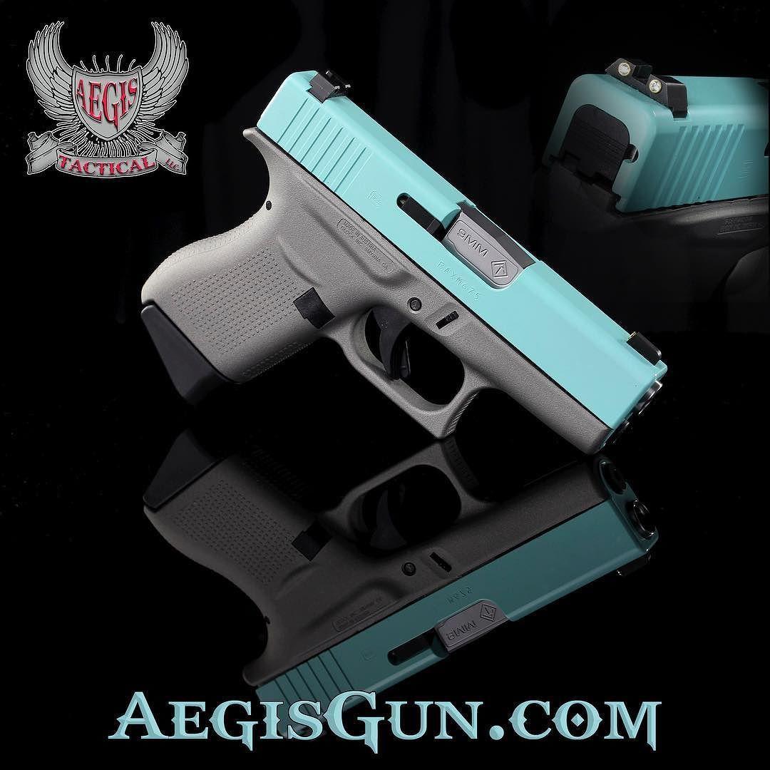 #tiffanyblue #diamond and #Glock all on one package. #glock43 #aegistactical #gunchannels #gunfreaks #glockporn
