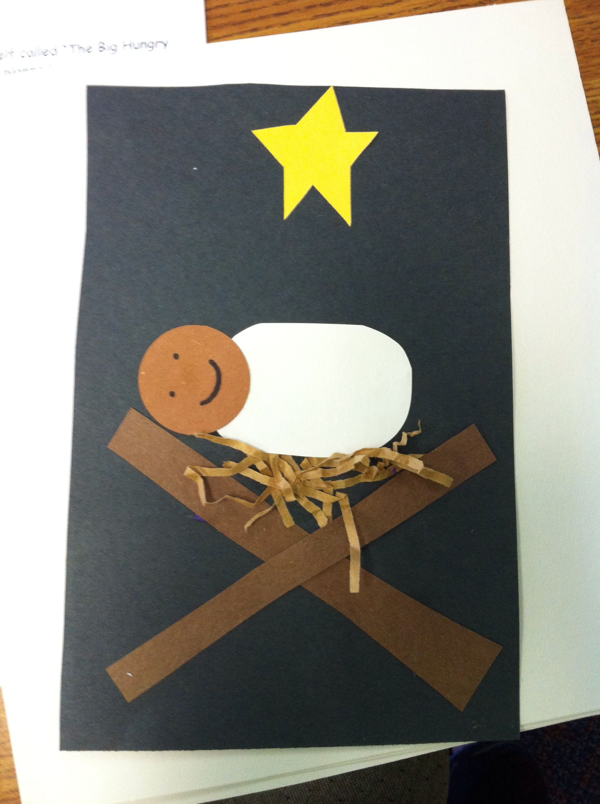 Christmas baby Jesus craft.