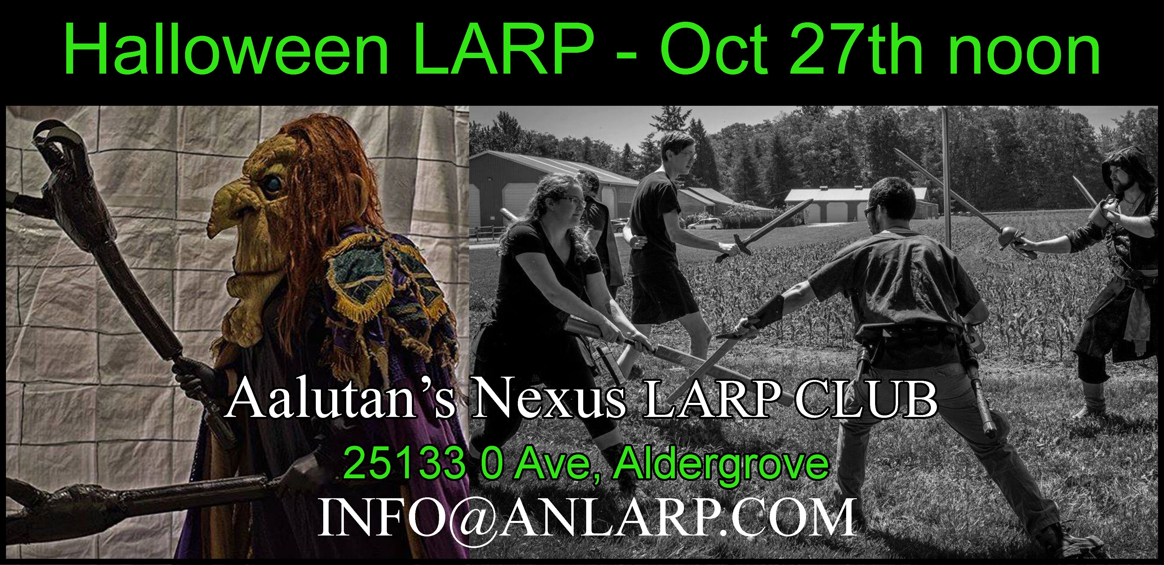 Come join our Halloween LARP game! New and old LARPers