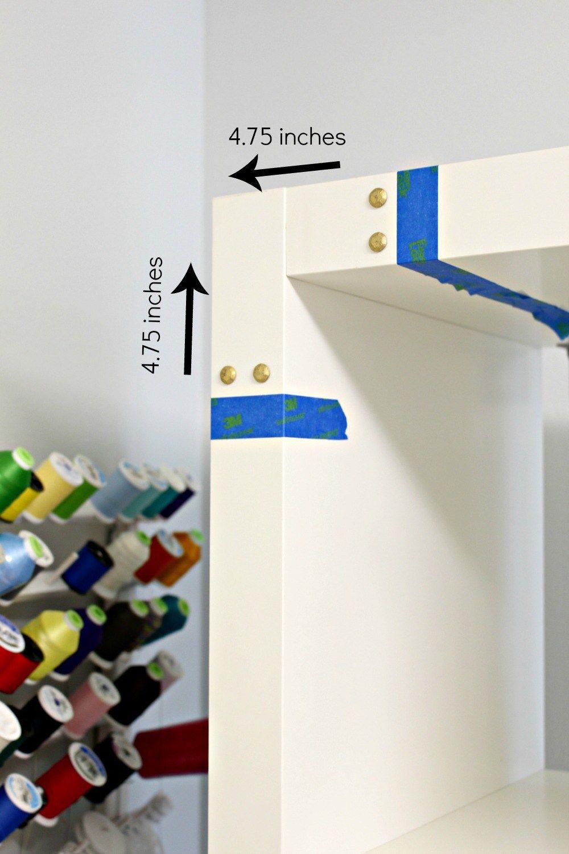 Ikea Kallax Hack With Campaign Hardware Using Rub N Buff Kallax Ikea Ikea Ikea Kallax Hack