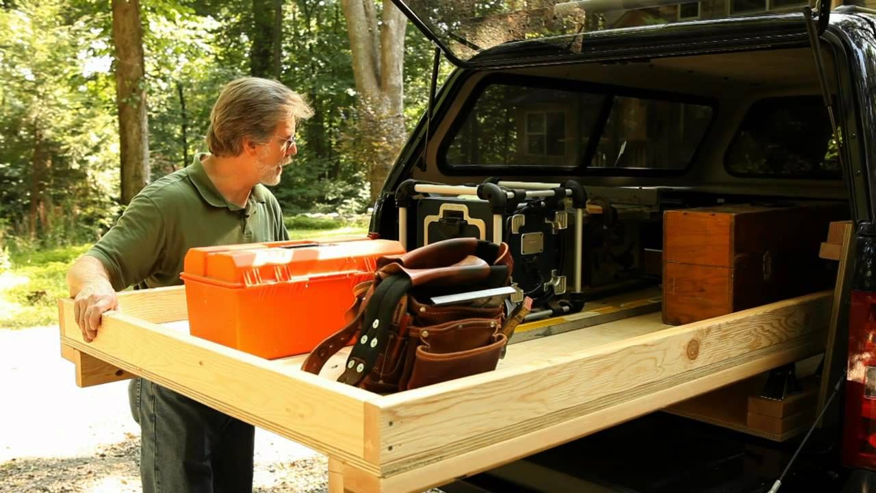 Rolling truck bed toolbox genius genius genius i love this idea the caster system - Diy truck bed storage ...