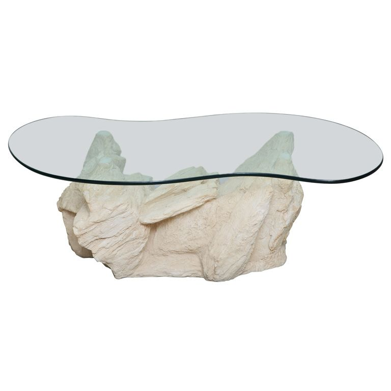 Plaster Faux Rock Coffee Table By Sirmos Faux Rock Table Plaster