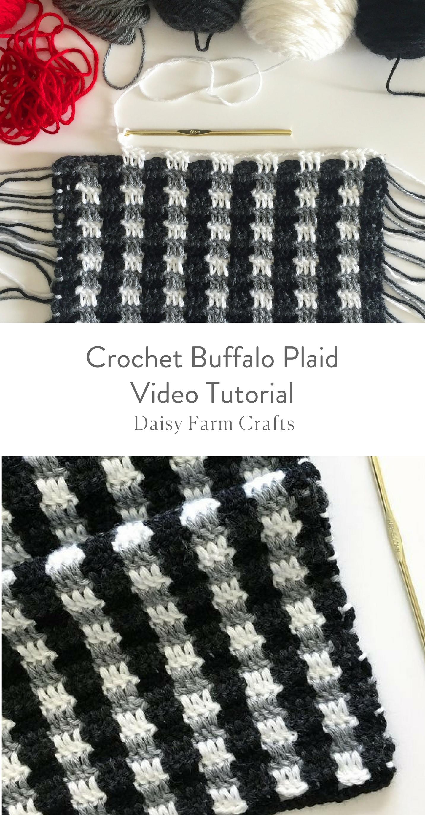 Crochet Buffalo Plaid Video Tutorial Häkeln Pinterest Häkeln