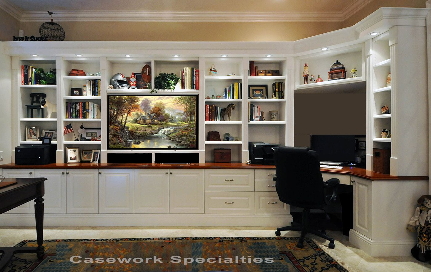 Corner Desk With Bookcase Furniture Sets For Living Room Check More At Http Www Gameintown Com Desk Wall Unit Built In Wall Units Entertainment Room Design