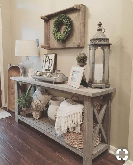 Hallway entrance rustic decoration #homedecorideas