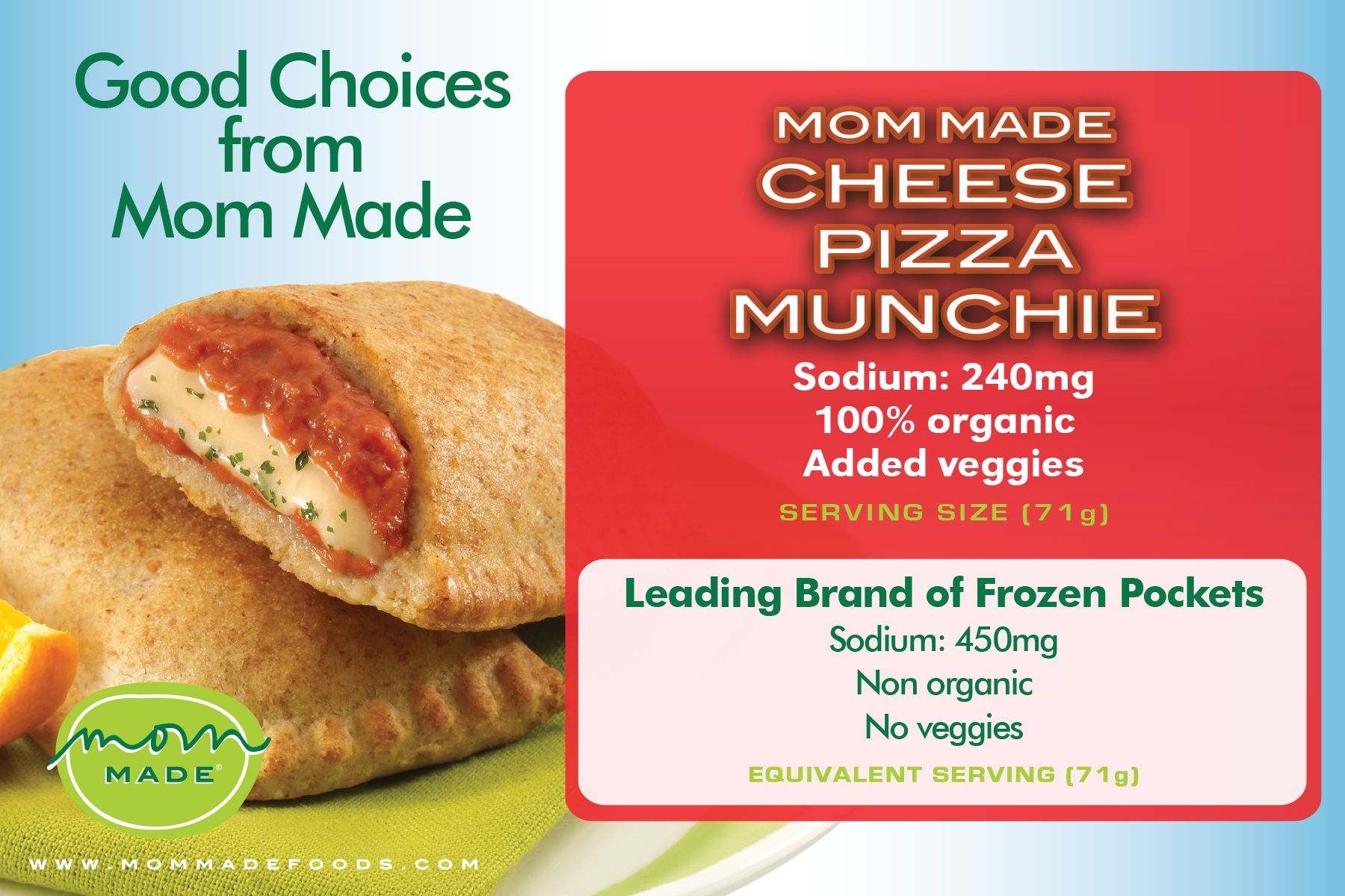 mom made cheese pizza munchie compared to a frozen pocket family meals food healthy recipes pinterest