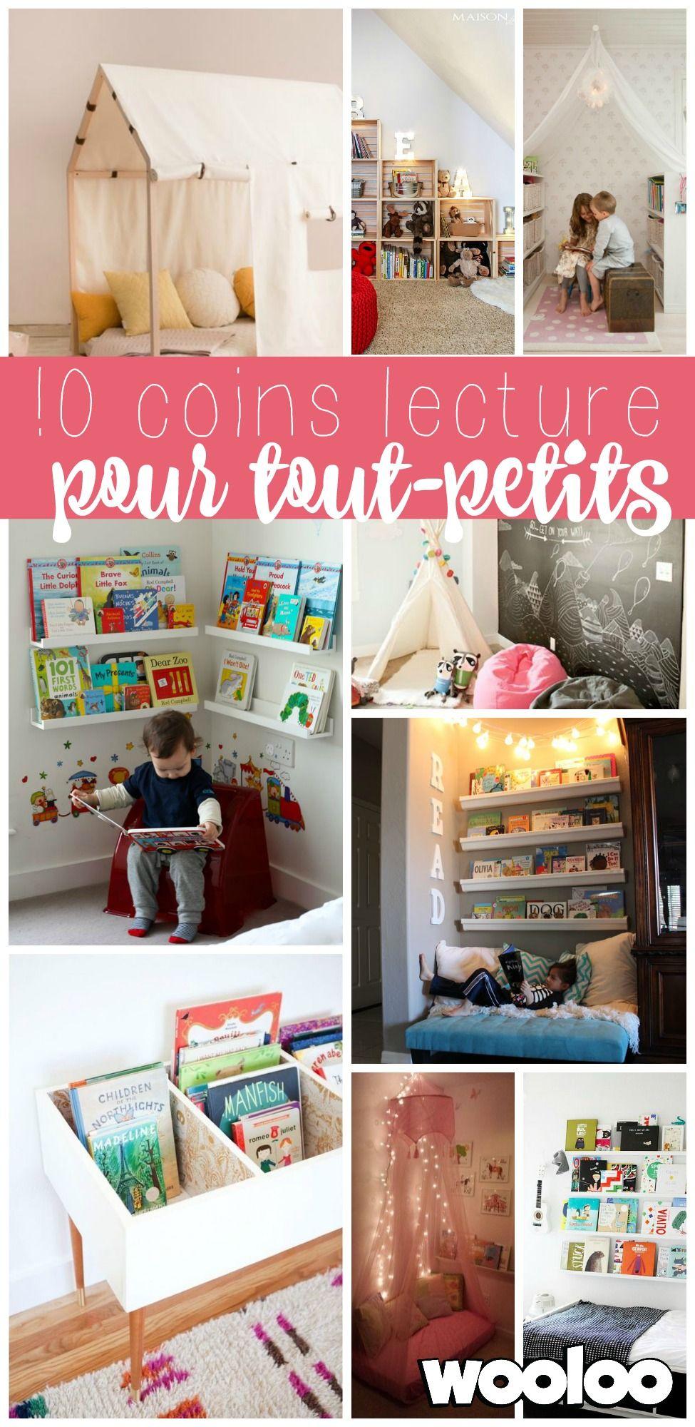 Voici 10 coins lecture adaptés pour les tout-petits. De belles idées pour inspirer les enfants et les motiver à lire plus souvent!