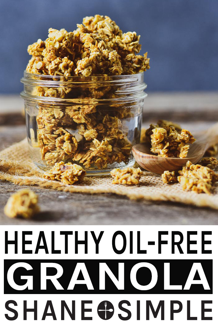 The Best Healthy No Oil Granola Recipe It S Easy To Make Sweetened With Maple Syrup Crunchy And Delicious A G Granola Recipes Wfpb Recipes Granola Healthy