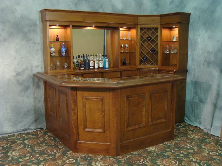 This Bar Can Fit Nicely In The Corner Of Any Room If You Want To