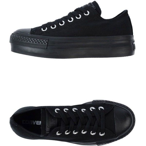 Converse All Star Trainers (5.275 RUB) ❤ liked on Polyvore featuring shoes, sneakers, converse, zapatos, black, kohl shoes, round cap, black sneakers, black trainers and round toe sneakers