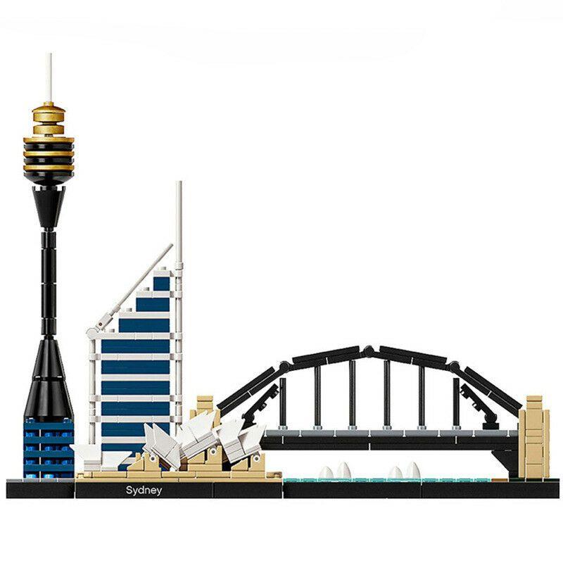 2018 new Architecture Sydney Skyline Building Blocks Sets Compatible City Bricks