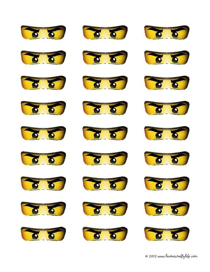 Printable Ninjago Eyes Lego Geburtstagsparty Ninjago Geburtstag