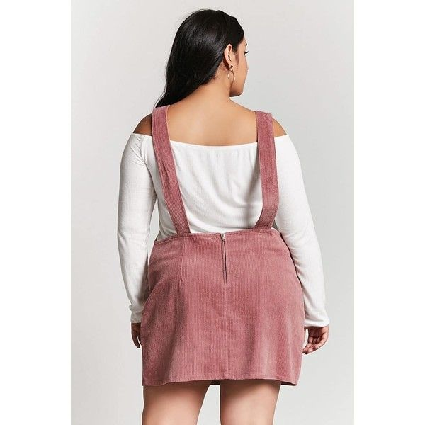 7854c4b1f44 Forever21 Plus Size Corduroy Overall Dress ( 23) ❤ liked on Polyvore  featuring dresses